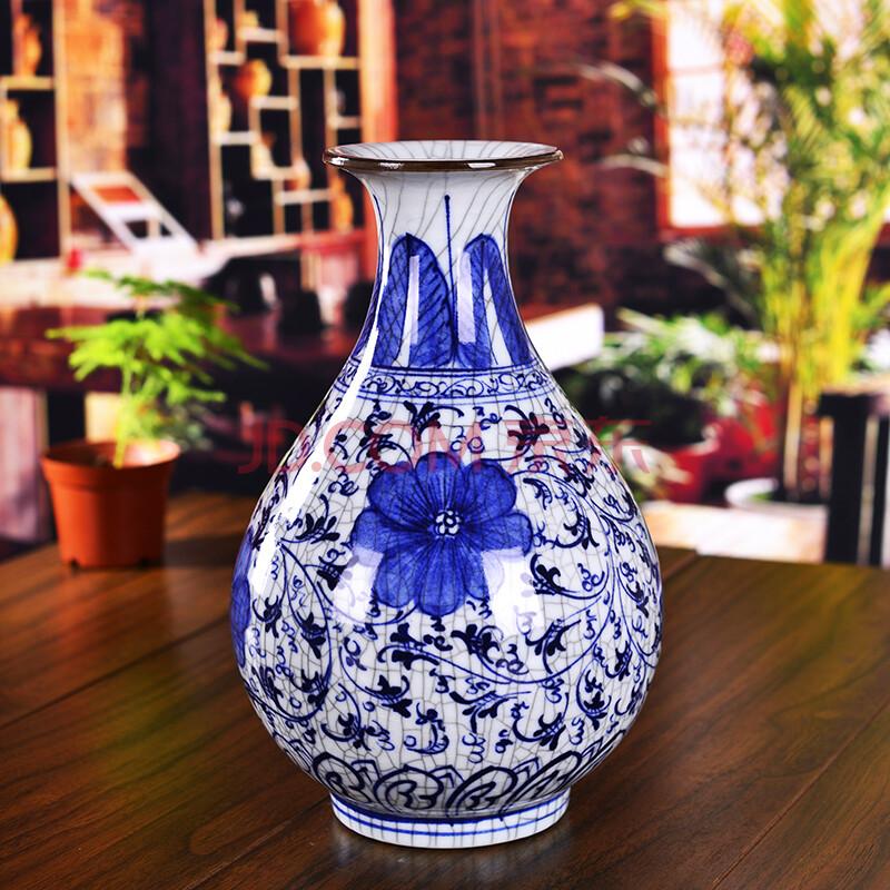 景德镇手绘青花瓷花瓶