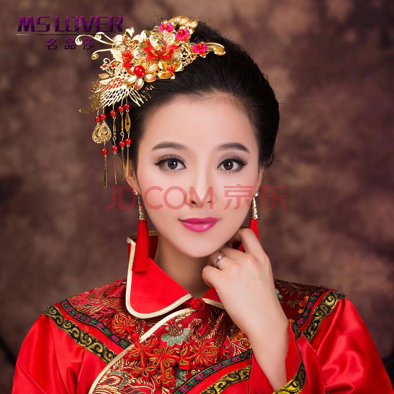 mslover 新款复古中式头饰 新娘秀禾服发饰 古装配饰图片