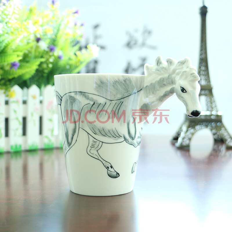 品鉴3d陶瓷杯 纯手绘动物杯 立体个性彩绘水杯 杯子 创意咖啡杯马克杯