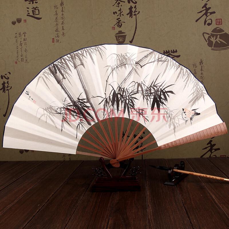 圆扇子画中国风手绘图片