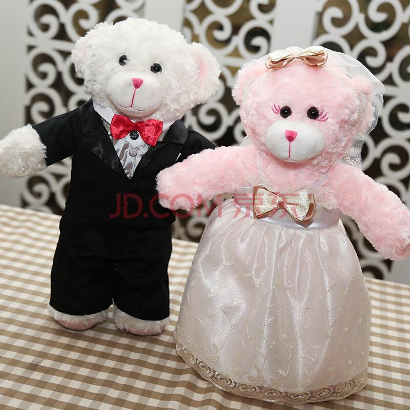 爱玩熊自造社 泰迪熊毛绒玩具新款 小熊服装 黑色礼服