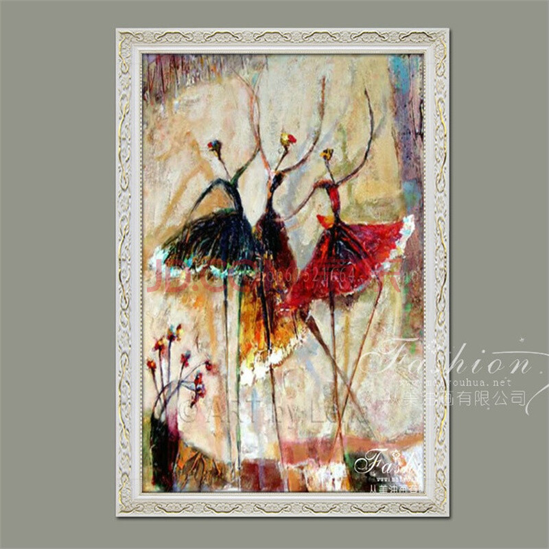 从美家装高档手绘装饰油画简约酒店会所壁画时尚客厅卧室挂画现代抽象