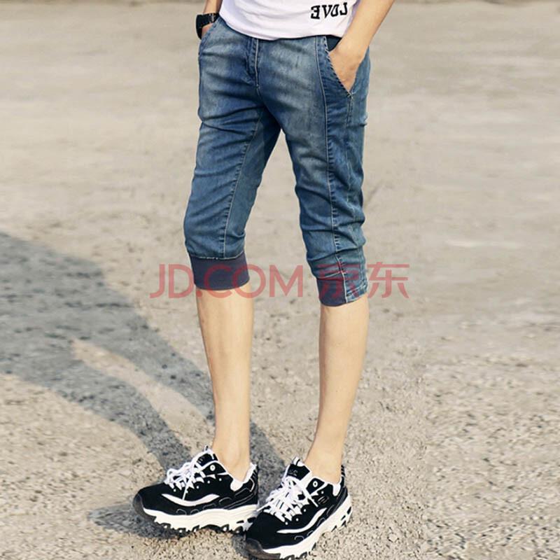 青少年紧腿牛仔裤图片