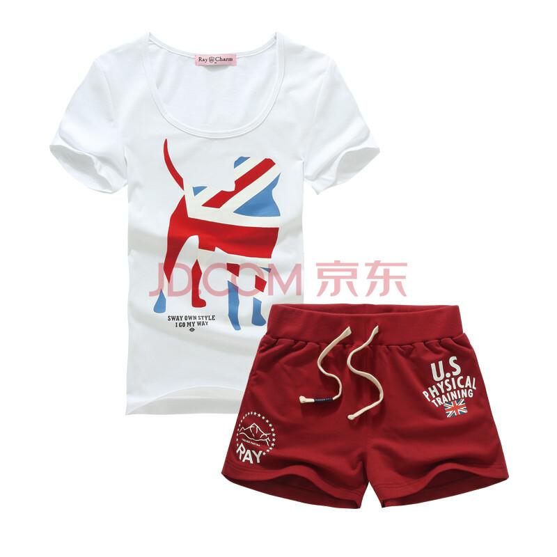 雷魅运动套装 男女夏季短袖短裤圆领薄款透气运动t恤棉运动短裤休闲