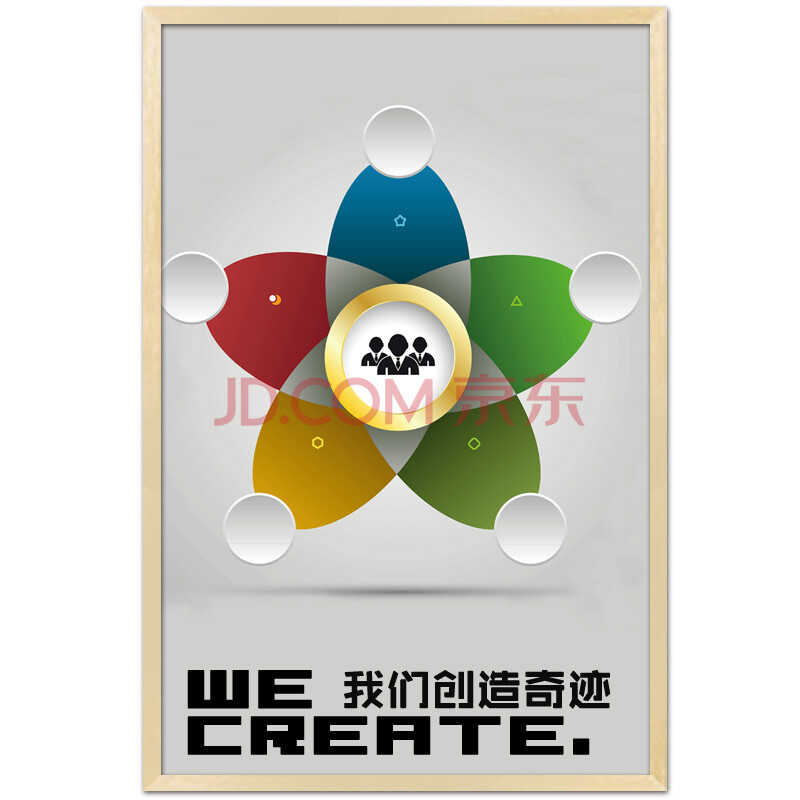 企业文化装饰画创意壁画公司简约墙贴团队正能量制励志办公室挂画图片
