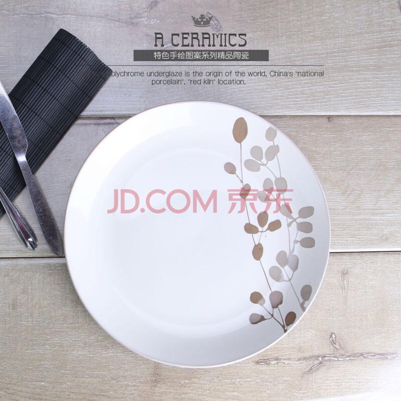 5英寸手绘陶瓷盘子 特色餐具套装