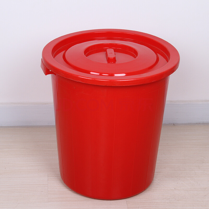 楼层小区餐厅垃圾筒蓝色白色垃圾桶适用于公司单位
