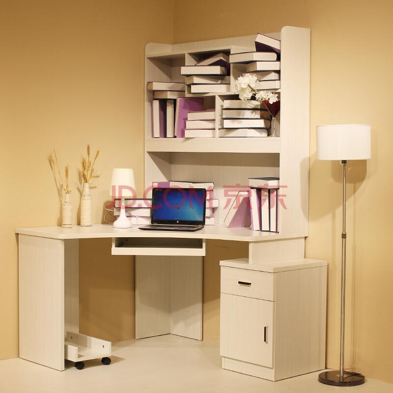 琳曼家具简约现代转角电脑桌 弧形圆角电脑桌 笔记本办公桌 工作台
