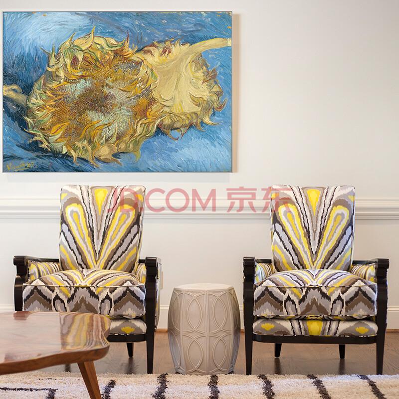 客厅装饰画向日葵