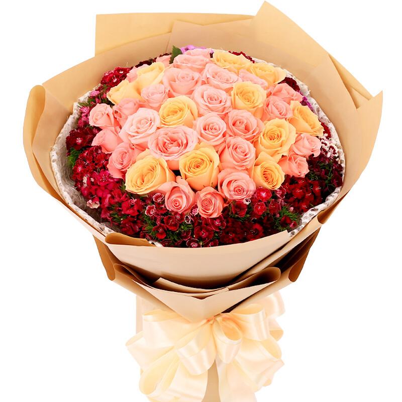 33朵玫瑰花束