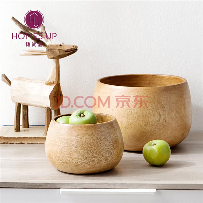 果盘创意摆件小木碗泰国进口 大号