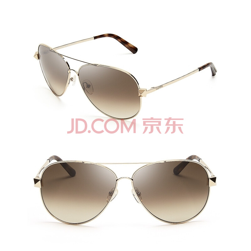 gold aviator frames  lenses; gold-tone