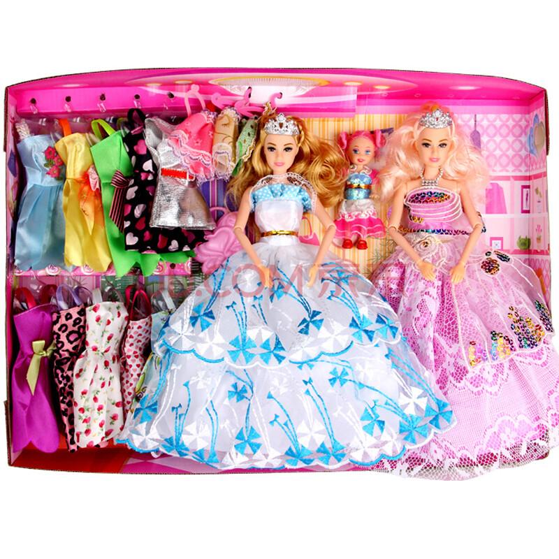 芭比娃娃公主芭芘娃娃芭比娃娃套装换装礼盒套装玩具上海哪玩具图片