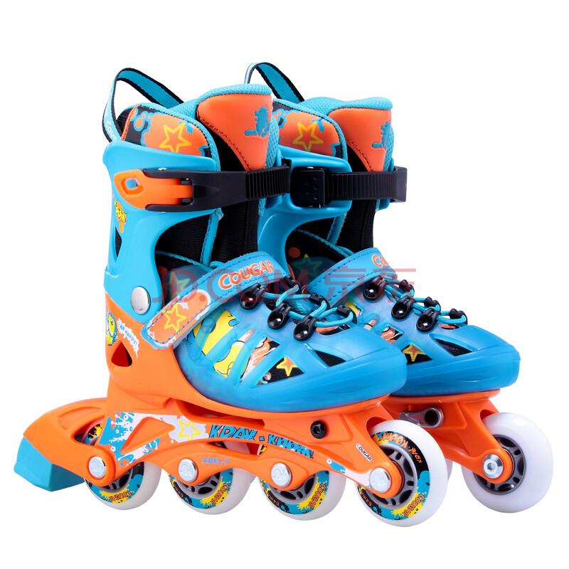 什么旱冰鞋好_cougar美洲狮儿童溜冰鞋 直排轮滑鞋可调码旱冰鞋滑轮