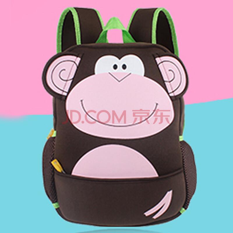 咔米嗒kamida 儿童书包幼儿园小书包 卡通动物造型可爱宝宝书包 猴子