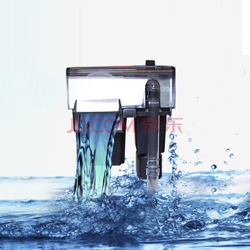 鱼缸过滤器 瀑布式壁挂过滤器 鱼缸瀑布过滤器 外挂式图片