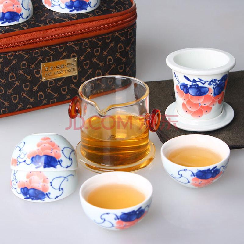 景德镇陶瓷器功夫茶具 陶瓷茶杯玻璃红茶硝子冲泡器八