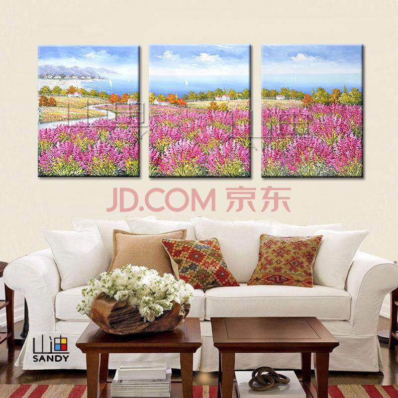 手绘油画装饰画客厅风景画挂画欧式壁画