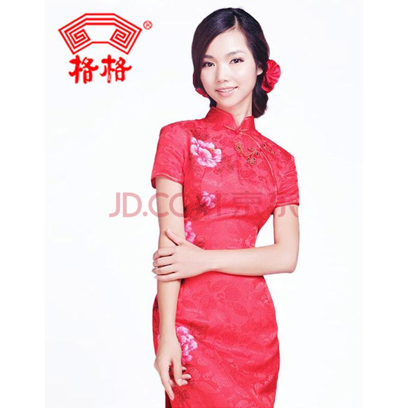 大红礼服婚纱照图片手绘
