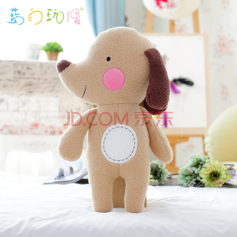 蓝白玩偶毛绒玩具可爱深林公仔玩具靠垫抱枕动物毛