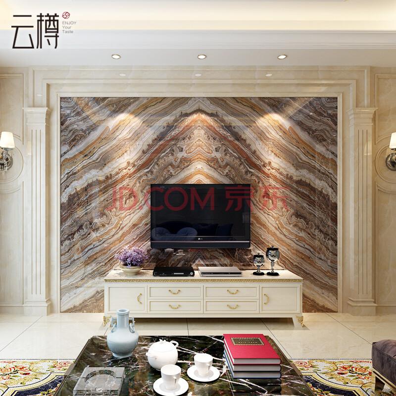 云樽 客厅电视背景墙瓷砖 800微晶石墙砖 沙发背景墙砖 布达拉宫 800x图片