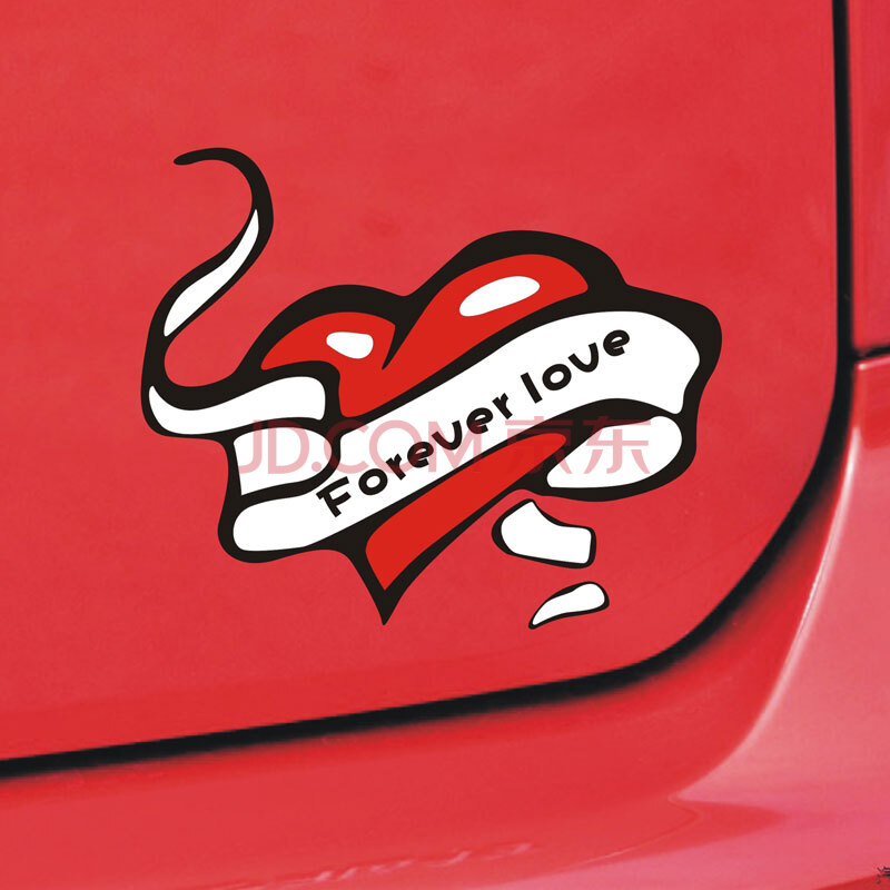 汽车装饰 功能小件 帝图 帝图 汽车贴纸 卡通遮划痕贴 油箱盖贴 车尾