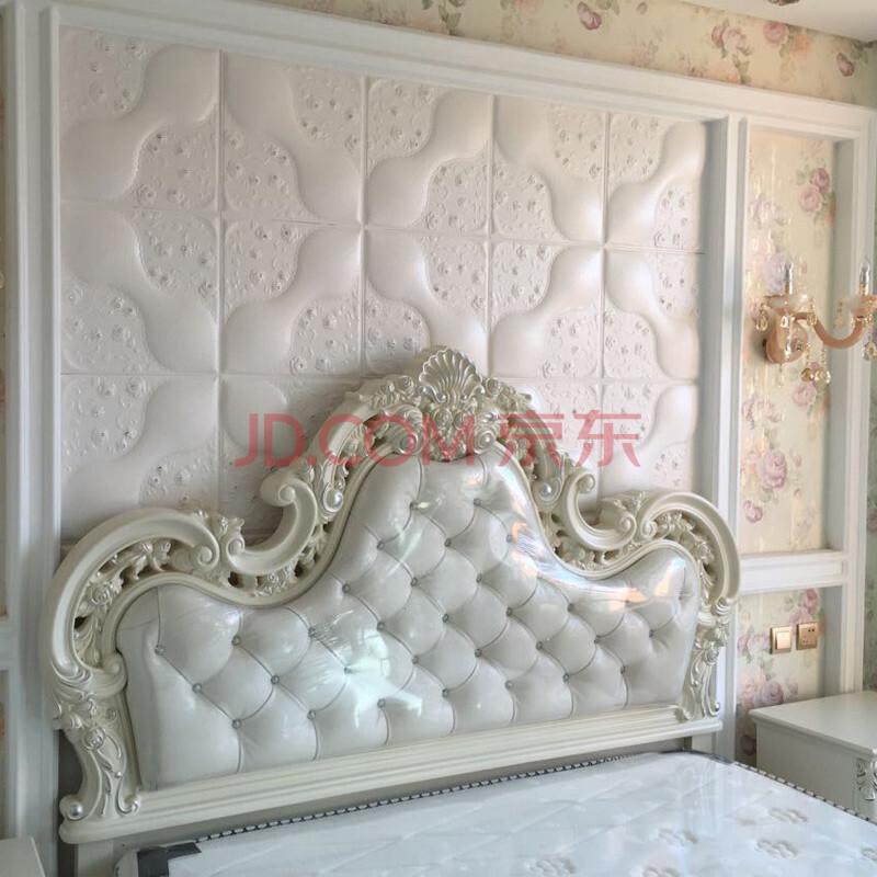 2015新品欧式立体客厅电视背景墙床头软包水晶镶钻