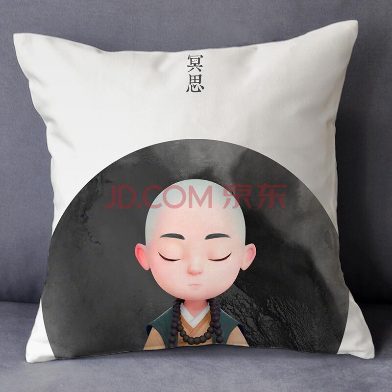 一禅小和尚漫画周边同款卡通可爱公仔抱枕头靠垫定制来图定做照片 12