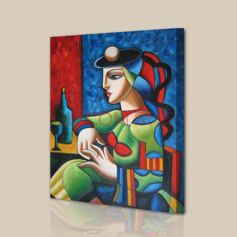 山迪 手绘油画客厅现代装饰画餐厅壁画玄关挂画墙画 花卉 神话50x60