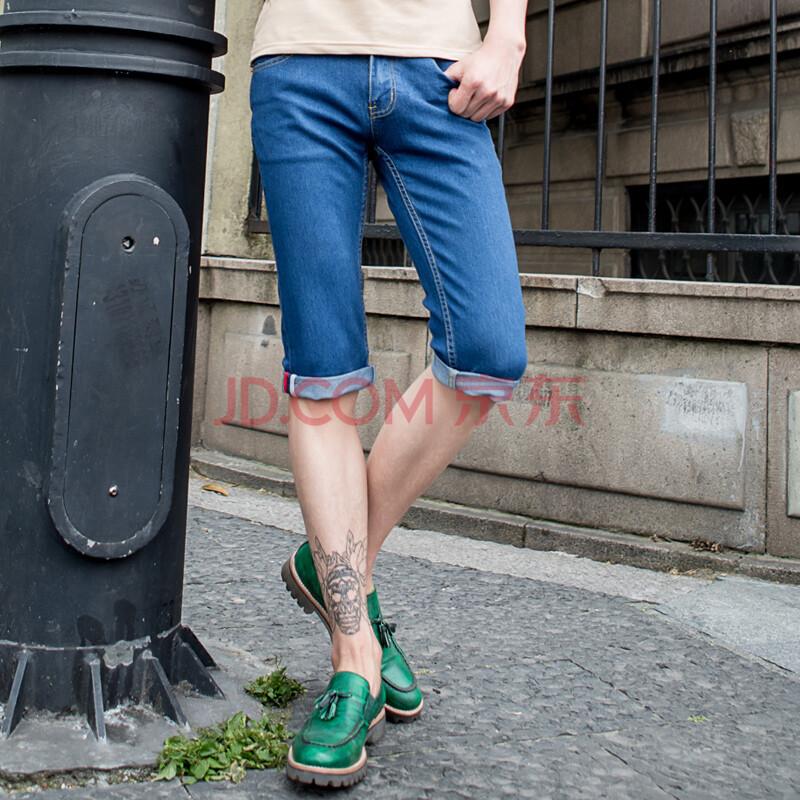2014新款男士牛仔短裤七分裤 夏季7分牛仔裤