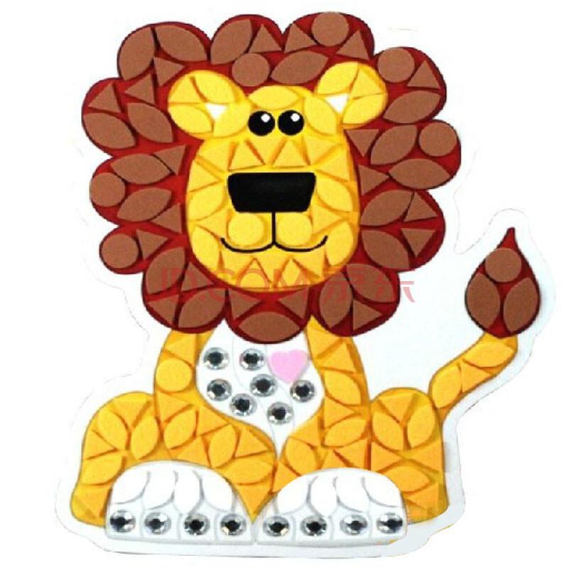 玩具堡 动物聚会64075 手工制作粘贴创意diy儿童益智玩具 动物家族