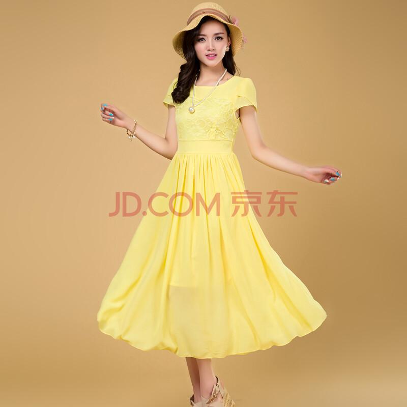 迷迈 波西米亚雪纺连衣裙长裙子 仙女裙 货到付款女装
