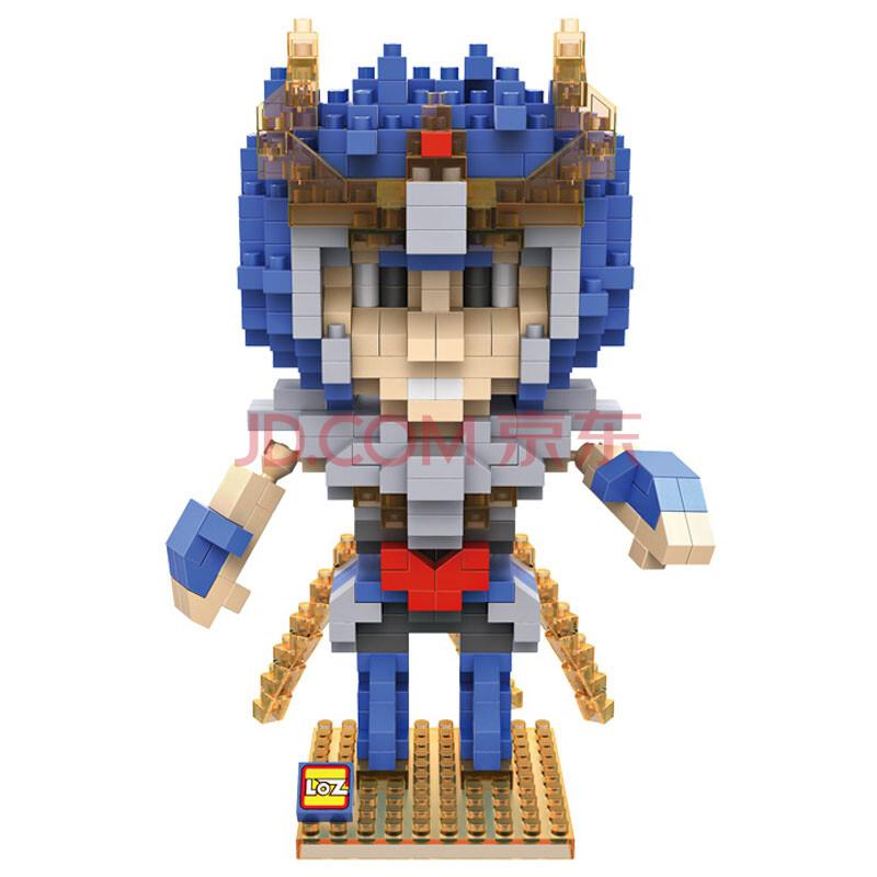 loz俐智圣玩具星矢x斗士图片益智拼装小积木儿童玩具一辉9484新款颗粒战警图片