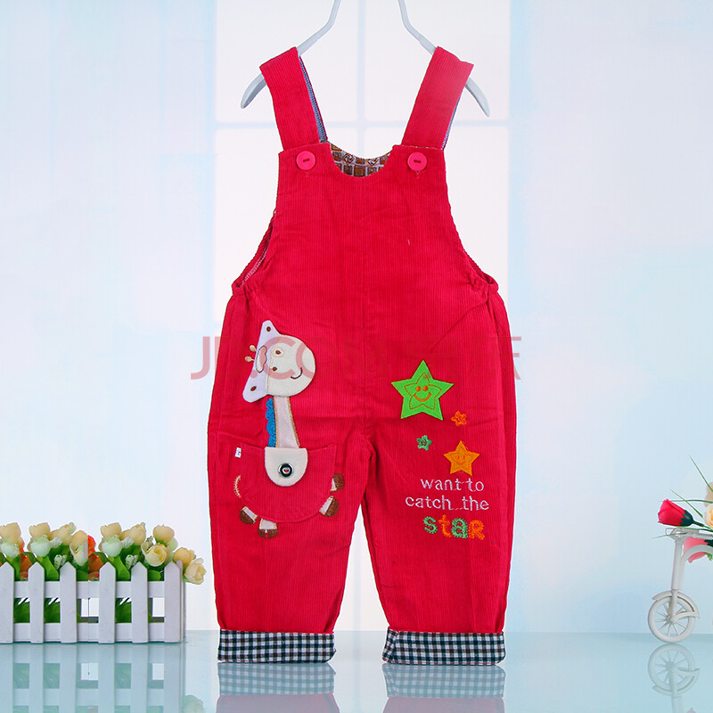 2015春秋冬季新款儿童可爱小鹿背带裤 婴儿背带裤 -6