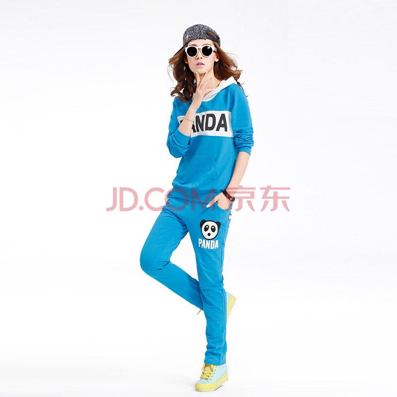 蓝色服装手绘古代美女