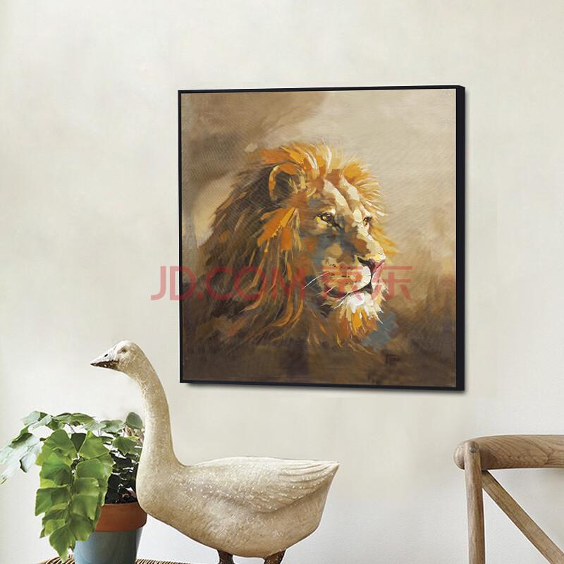 玄关画现代客厅装饰画沙发背景墙挂画动物