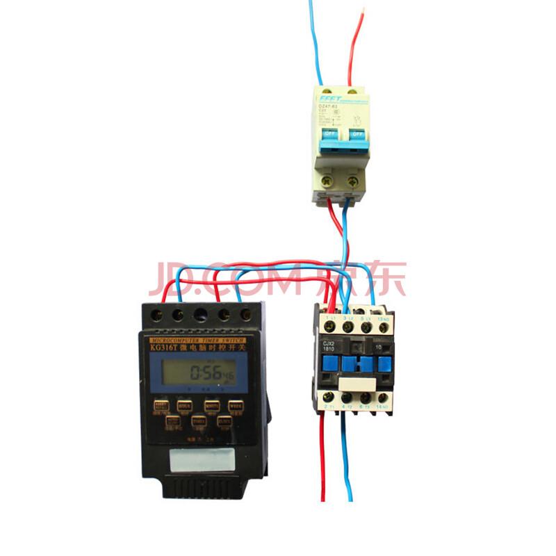 微电脑 三相 时控开关 380v 加交流接触器 最大支持10kw 时控 接触器