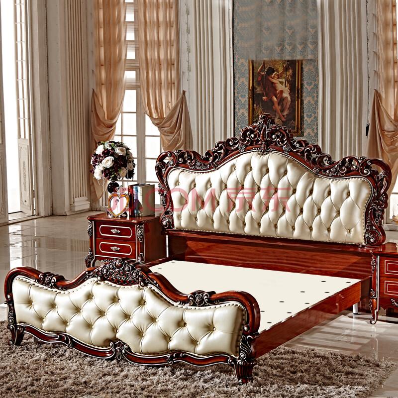 欧式床实木 简约欧式床双人床图片