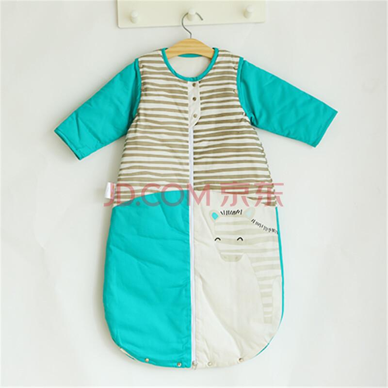 优简婴儿睡袋 防踢被春秋款宝宝睡袋 夹棉婴儿睡袋防踢被可脱袖 囧囧