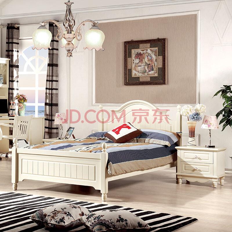 思途家具 韩式床田园床公主床1.5米儿童实木床欧式床双人床1.图片