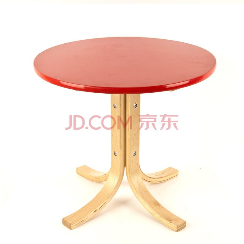 泽多 小圆桌实木质咖啡桌茶几餐桌洽谈桌儿童宜家休闲