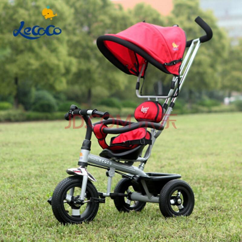 新款正品乐卡儿童三轮车脚踏车婴儿手推车