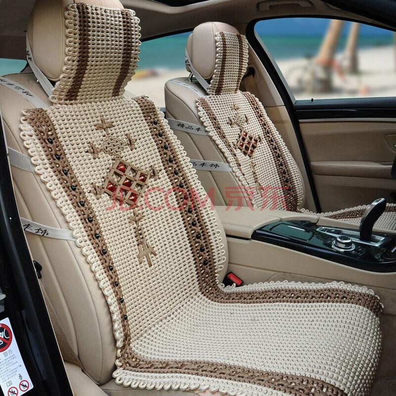 聚灵吉夏季新款纯手工编织汽车坐垫凯迪拉克cts srx xts ats坐垫车垫
