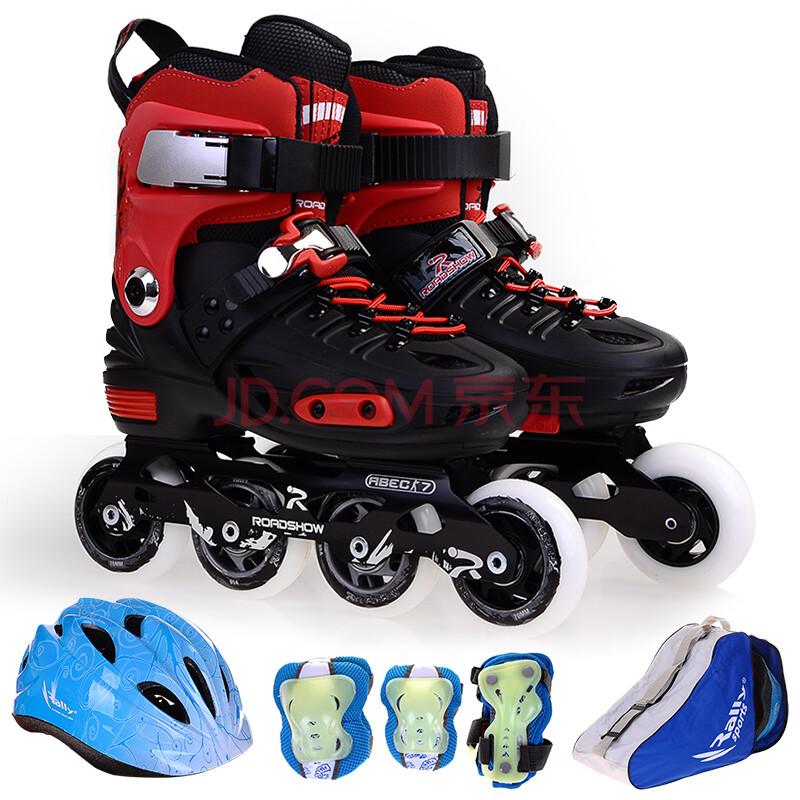 乐秀rx1溜冰鞋儿童全套装轮滑鞋旱冰鞋滑冰鞋男女平