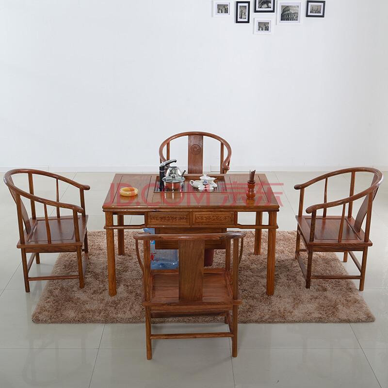 粤顺茶几 实木茶几桌 仿古红木家具功夫茶几茶桌茶盘图片