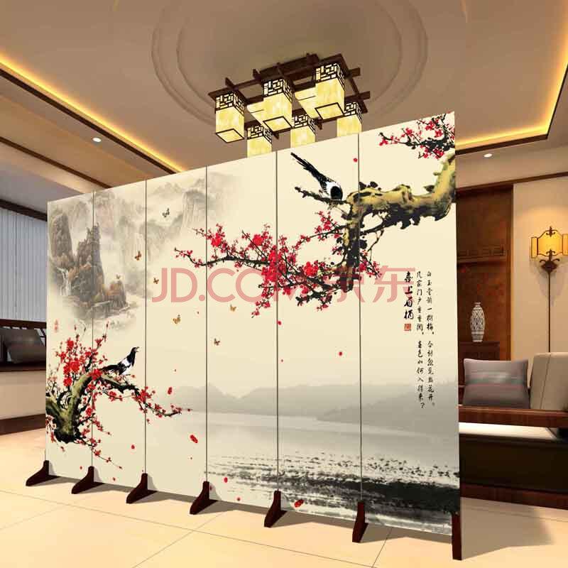 王的工匠 屏风隔断时尚现代中式客厅玄关门创意简约座图片