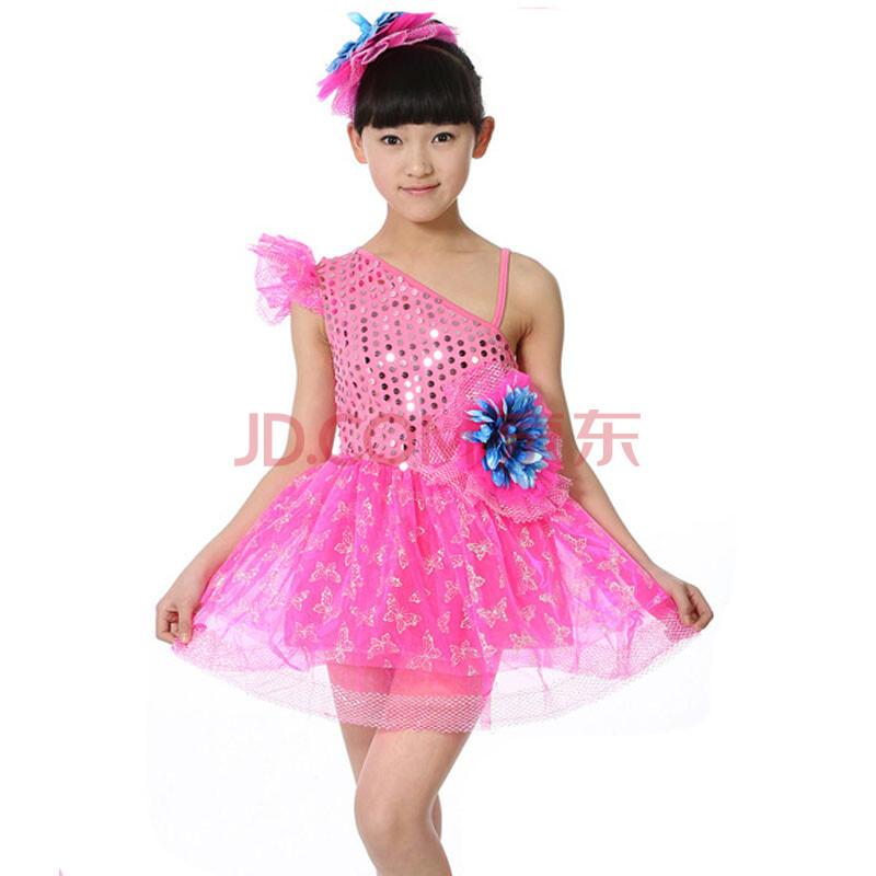 儿童拉丁舞演出服女童主持人公主图片