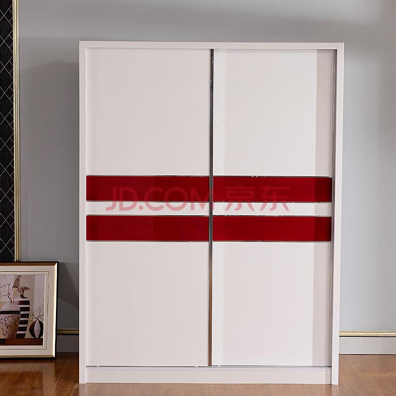 宜森缘家具 现代简约烤漆推拉门大衣柜 板式趟门移门整体衣橱衣柜
