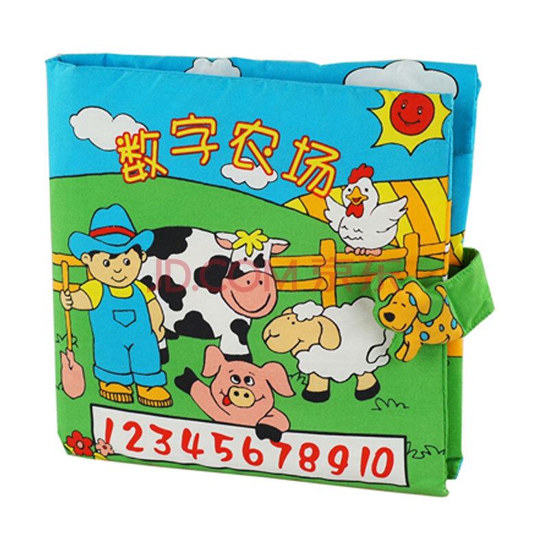拉拉布书 婴儿布书1-2-3岁立体布书 动物世界,数字农场等系列 数字