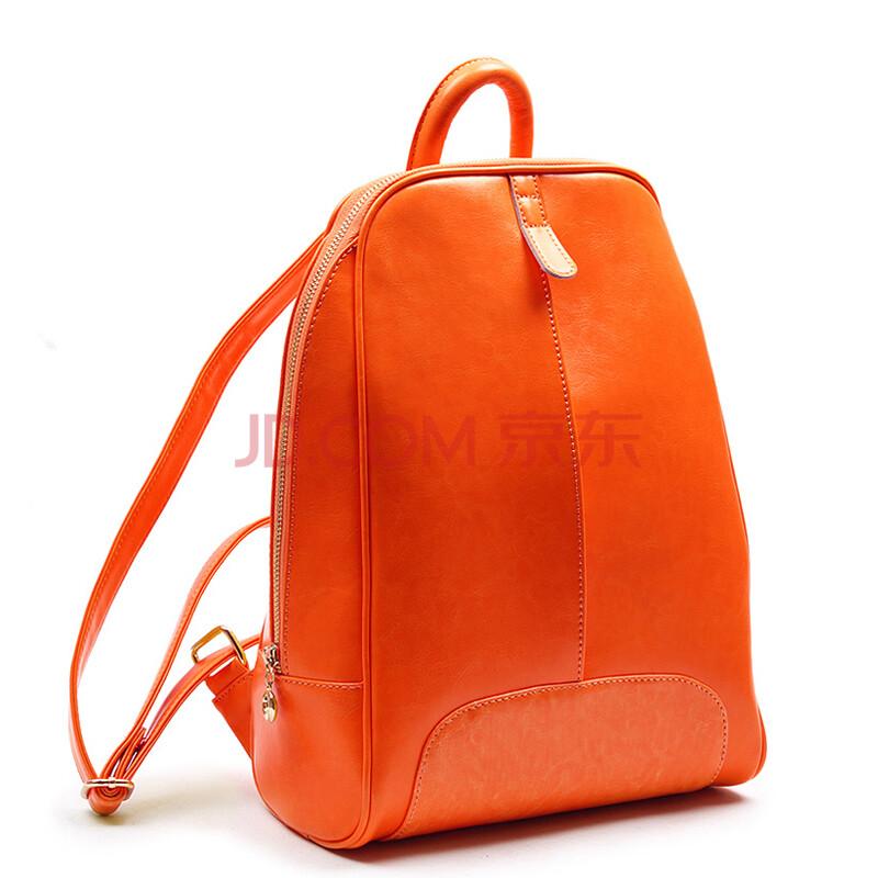 shine young (乡友) 2014韩版学院风旅行休闲牛皮女生背包b1057 橙色
